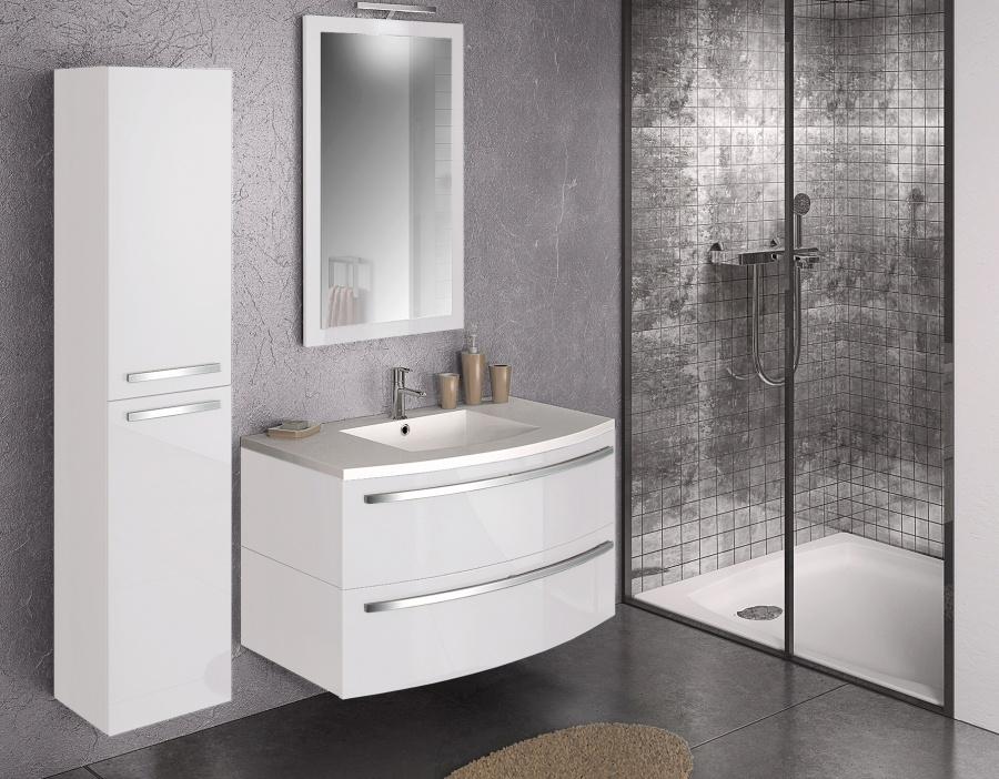 colonne porte ondine laque blanc meuble de salle de bain douche baignoire. Black Bedroom Furniture Sets. Home Design Ideas