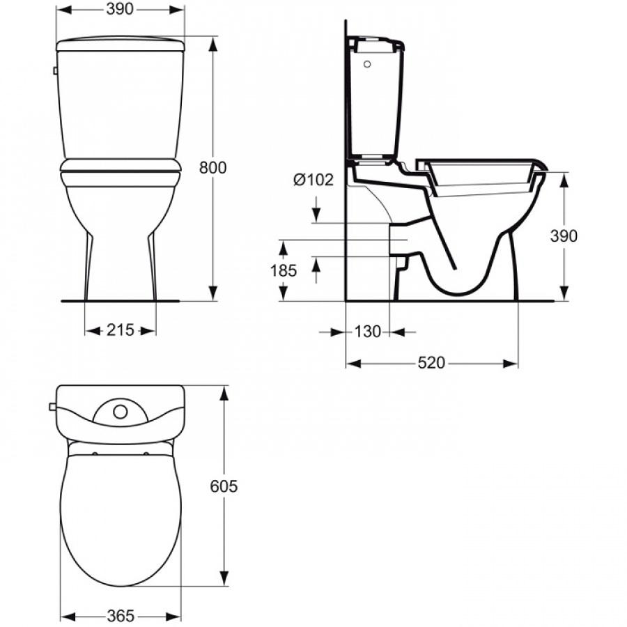 pack wc gain de place sortie horizontale kheops. Black Bedroom Furniture Sets. Home Design Ideas
