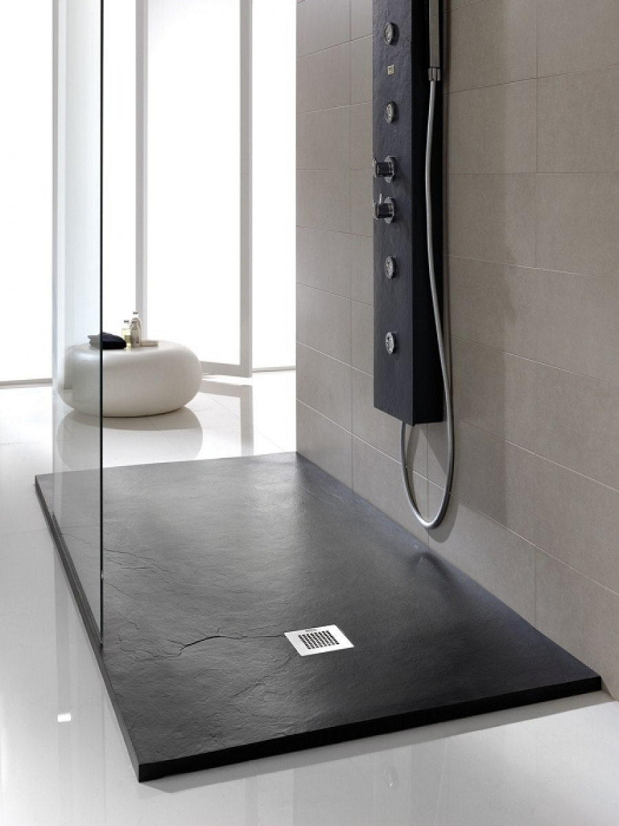 receveur de douche souple soft noir 90x170 meuble de salle de bain douche. Black Bedroom Furniture Sets. Home Design Ideas