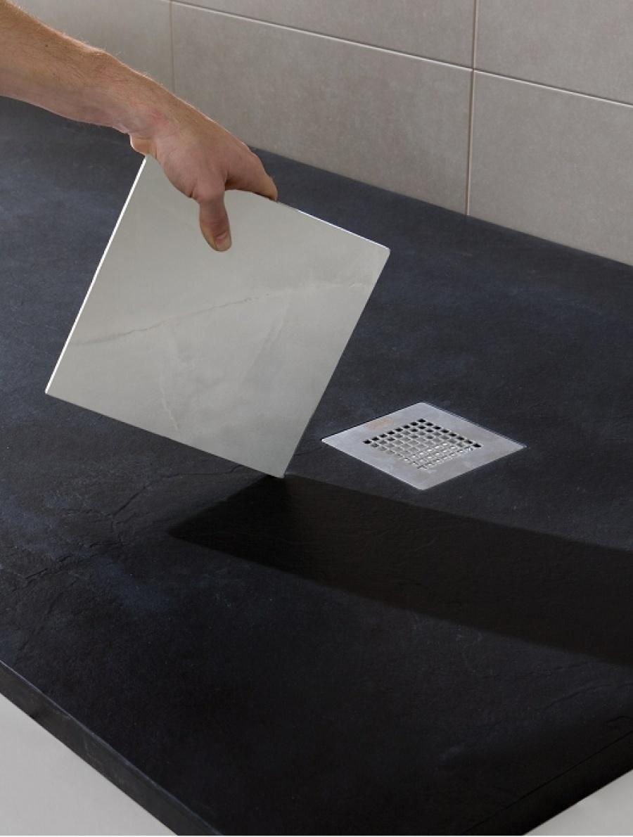 Receveur de douche souple soft noir 100x150 sanitairepro for Fenetre 90x140