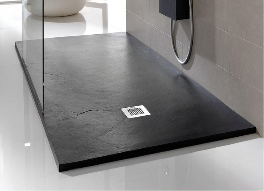 receveur de douche souple soft noir 100x180 meuble de salle de bain douche. Black Bedroom Furniture Sets. Home Design Ideas