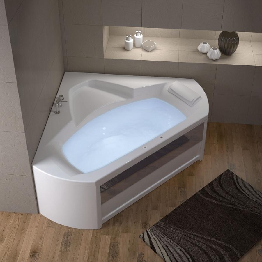 baignoire baln o d 39 angle 140x140 pl nitude t te droite meuble de salle. Black Bedroom Furniture Sets. Home Design Ideas