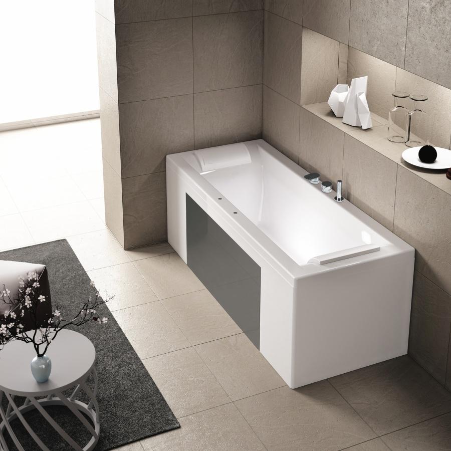 baignoire baln o pl nitude double t te rectangulaire 170x70 meuble de salle. Black Bedroom Furniture Sets. Home Design Ideas