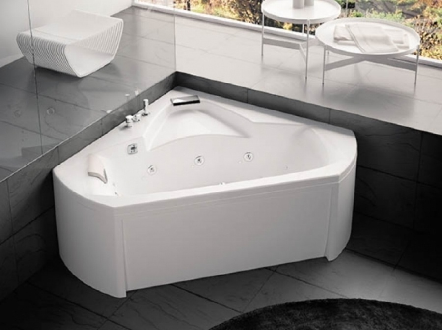Baignoire Balnéo Pure Design Dangle 140x140 Sante Tête à Gauche