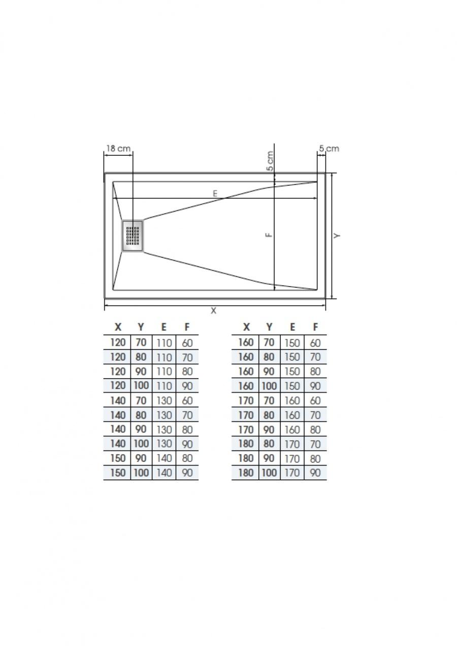 receveur rectangle kinesurf blanc extra plat 70x120 meuble de salle de. Black Bedroom Furniture Sets. Home Design Ideas
