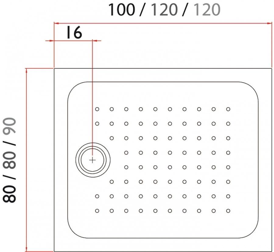 Receveur de douche roklite rectangulaire 100x80 jacuzzi m - Receveur de douche 100x80 ...