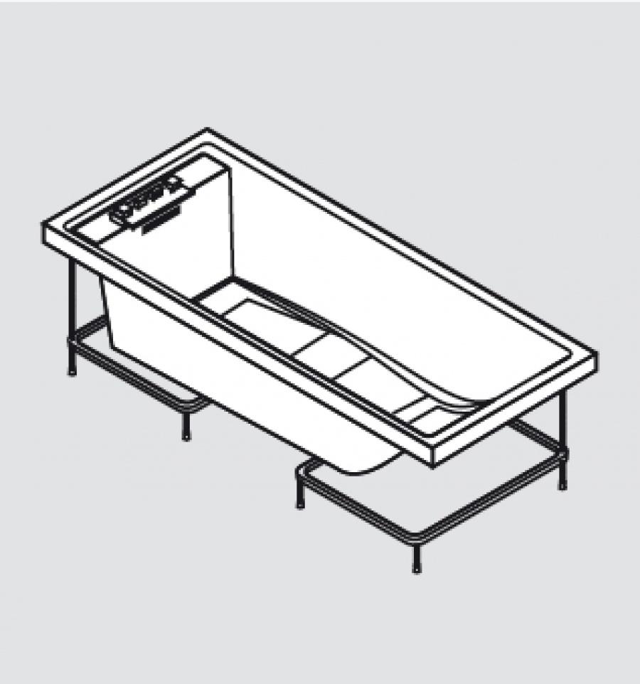 baignoire baln o 170x70 sense 4 dream air sans tablier. Black Bedroom Furniture Sets. Home Design Ideas