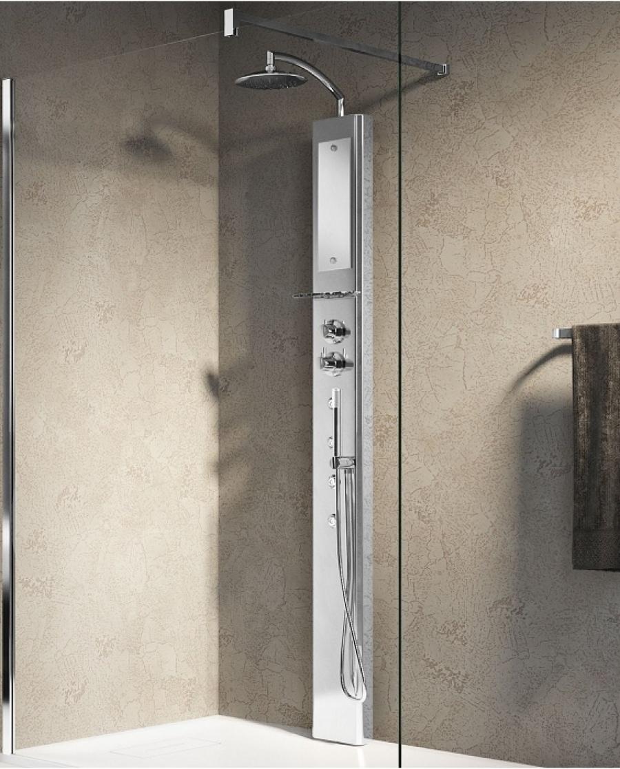 colonne de douche think 1 mitigeur thermostatique sans si ge meuble de. Black Bedroom Furniture Sets. Home Design Ideas