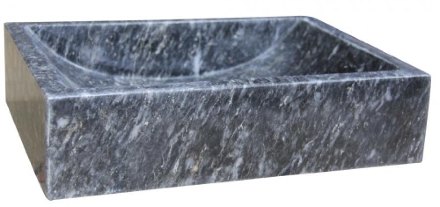 vasque poser en pierre rectangulaire noir uc3107 meuble de salle de bain. Black Bedroom Furniture Sets. Home Design Ideas