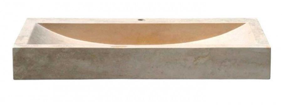 vasque poser en pierre rectangulaire sabl uc3205 meuble de salle de bain. Black Bedroom Furniture Sets. Home Design Ideas