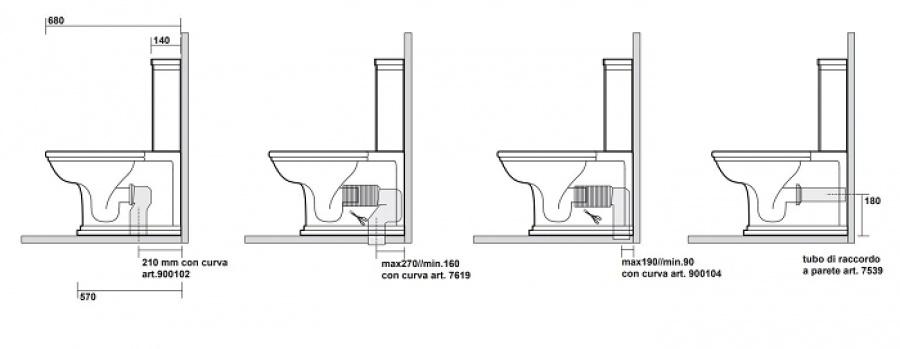 bloc wc r tro complet r servoir bas waldorf wd4117 meuble de salle de bain. Black Bedroom Furniture Sets. Home Design Ideas