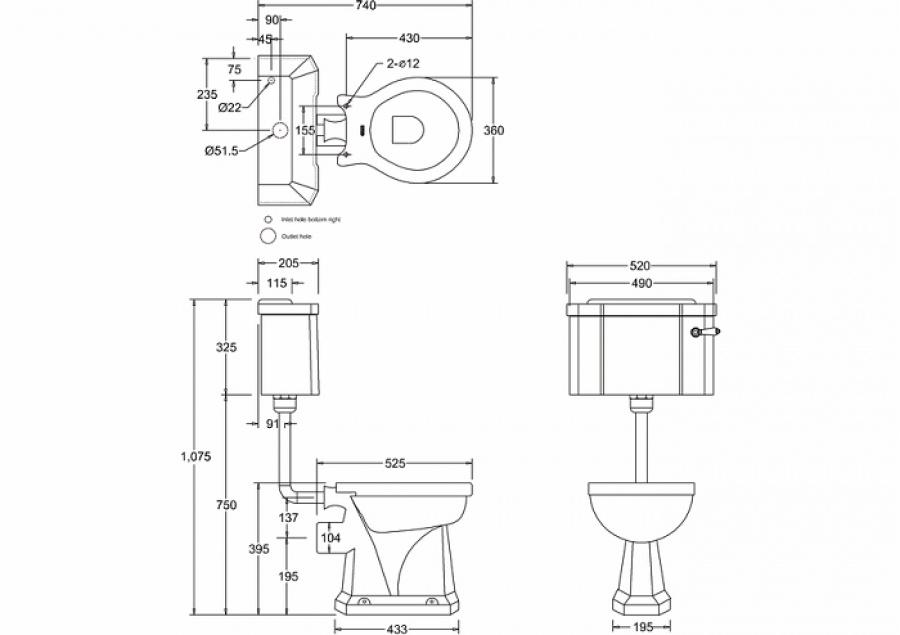 wc burlington avec levier de r servoir en c ramique taille basse 520 abattant frein de chute. Black Bedroom Furniture Sets. Home Design Ideas