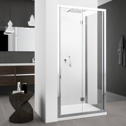 Porte de douche seule pliante à 2 volets Zephyros S