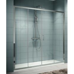 Porte de douche seule à 4 panneaux coulissants Zephyros 2A