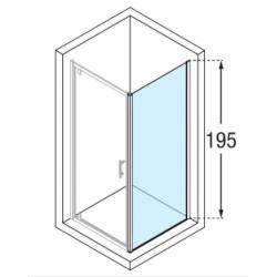 Paroi fixe Zephyros F 100cm verre Fumé profilé Silver