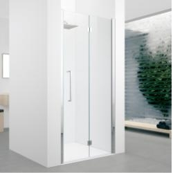 Porte pivotante et pliante YOUNG 1BS 60 cm - Transparent - Silver -Droite