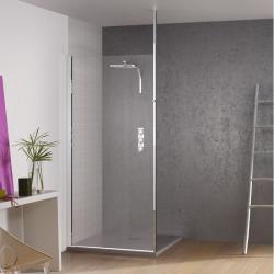 Paroi de douche fixe KINESPACE SOLO avec Mât - Transparent - 70 cm