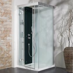 Cabine de douche Kineform Thermostatique Carré 90 cm - Perle noire