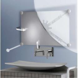 Support miroir orientable multidirectionnel Blanc