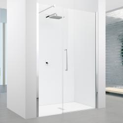 Porte pivotante + fixe en alignement Young 2.0 G+F 100cm Transparent Silver