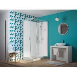 Cabine de douche EDEN faible hauteur - Portes coulissantes - 100x80cm