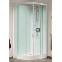 Cabine de douche Kineprime Glass faible hauteur 1/4 de rond - Différentes versions