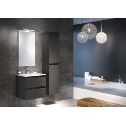 Meuble simple vasque 60 cm RIVAGE Opale Anthracite