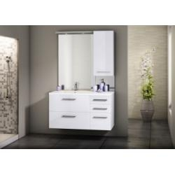 Meuble simple vasque INTEGRALE 105 cm Cristal Blanc