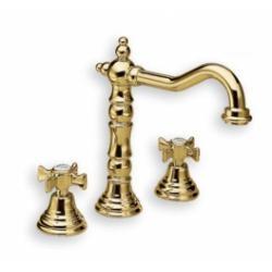 Mélangeur lavabo 3 trous CHAMBORD rétro doré - CH11252