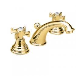 Mélangeur lavabo 3 trous CHAMBORD rétro Doré - CH11352