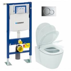 Pack WC Geberit UP320 + Cuvette AquaBlade CONNECT + plaque Sigma Chromé brillant