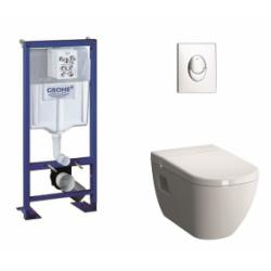 Pack WC Grohe Rapid SL + Cuvette D-Light VitraFresh + Plaque Chromée