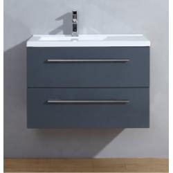 Meuble simple vasque 80 cm SATURN 2.0 Gris Brillant