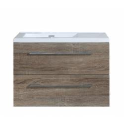 Meuble simple vasque 80 cm JUPITER 2.0 Bois Foncé