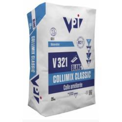 Mortier-Colle Amelioré COLLIMIX CLASSIC Blanc - Sac 25kg - VPI