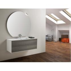 Meuble simple vasque PARIGI 121 cm - Tranche Grigio - Compo 10