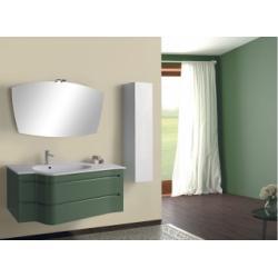 Meuble simple vasque SLALOM 122 cm - Verde Reseda Mat