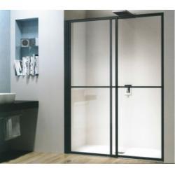 Porte coulissante et pivotante SECURE Noir mat - L106 cm
