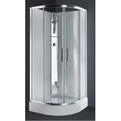 Cabine de douche 1/4 de rond CARAT 90x90 cm Thermostatique