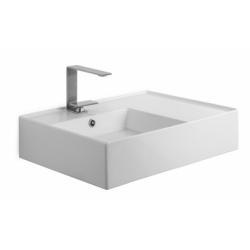 Vasque à poser ou suspendue TEOREMA 2.0 60 cm - Vasque à Gauche*