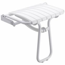 Siège de douche escamotable Assise grande taille - Blanc