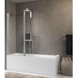 Pare-baignoire 2 portes pivotantes AURORA 2 Transparent