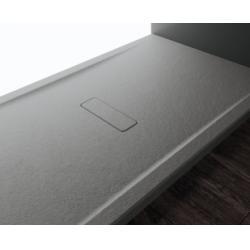 Receveur rectangulaire CUSTOM TOUCH Gris - Hauteur 3.5 cm - 100x80 cm