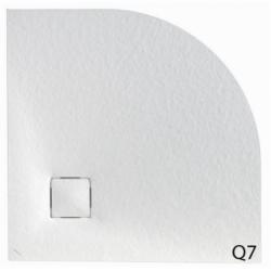 Receveur 1/4 de rond MALENKE Cover Extra-plat - Blanc - 90x90cm
