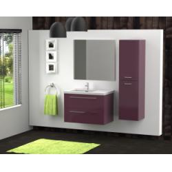 Meuble simple vasque 80 cm SATURN 2.0 Aubergine