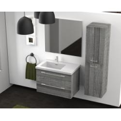 Meuble simple vasque 80 cm JUPITER 2.0 Bois Gris Scié