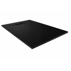 Receveur de douche RADIANCE texture Lisse Noir 80x90 cm