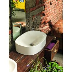 Vasque en céramique WILD Rectangle 60 Blanc