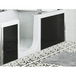Tablier de façade Full Verre Noir - 160 cm