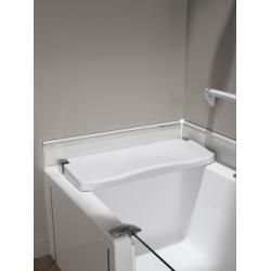 Siège blanc rabattable pour baignoire DUO